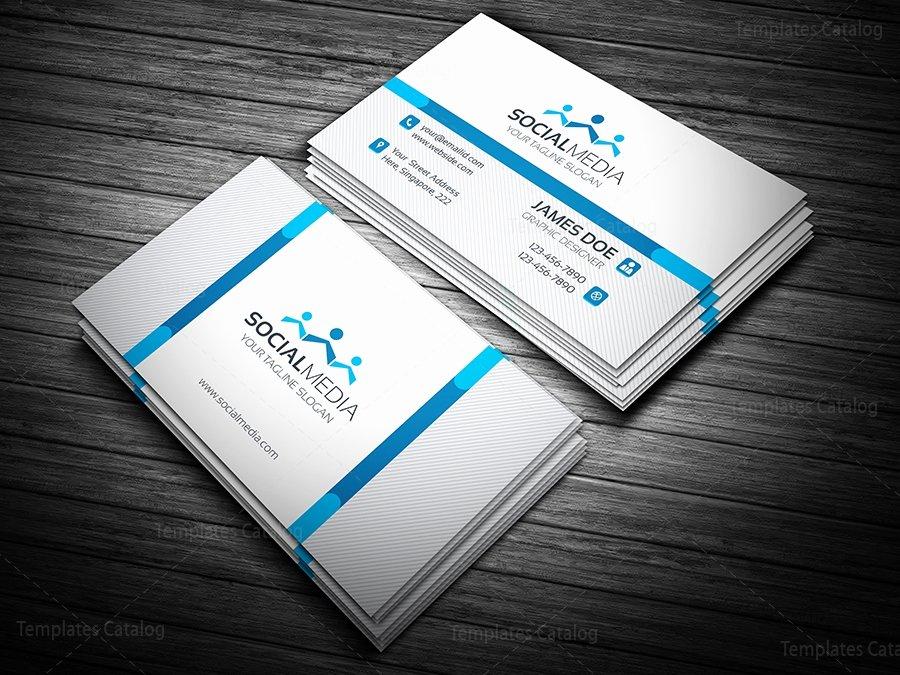 Social Media On Business Card New social Media Business Card Template Template Catalog