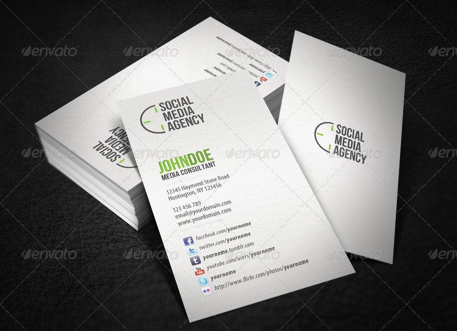 Social Media On Business Cards New social Media Business Card by Glenngoh