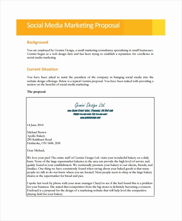 Social Media Proposal Pdf Lovely Free 12 social Media Marketing Proposal Examples & Samples In Pdf Google Docs Pages