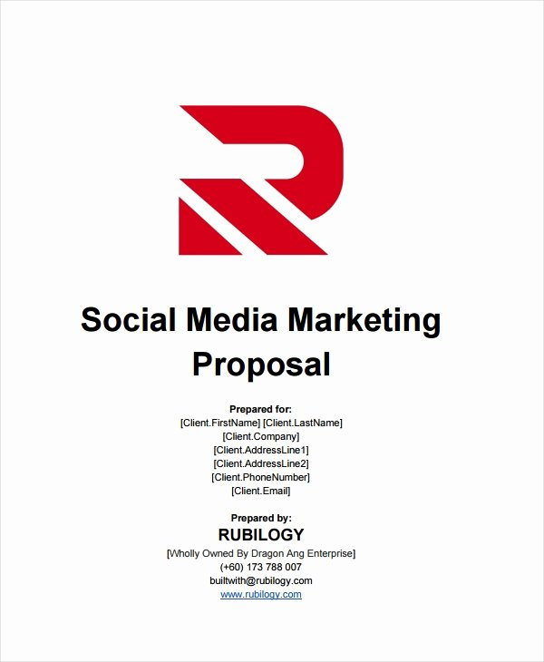 Social Media Proposal Pdf Unique Free 12 social Media Marketing Proposal Examples & Samples In Pdf Google Docs Pages