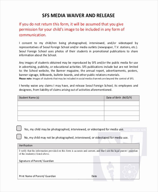 Social Media Release form Best Of Sample Media Release form 10 Free Documents In Pdf