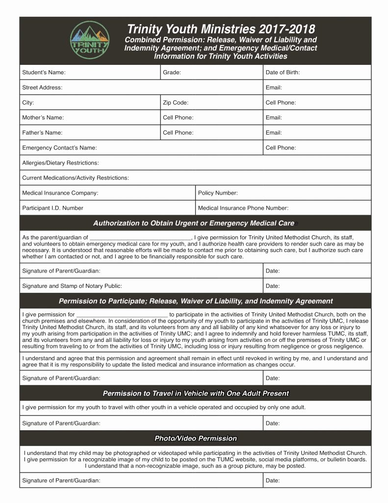 Social Media Release form Fresh Mike Ralph Creative