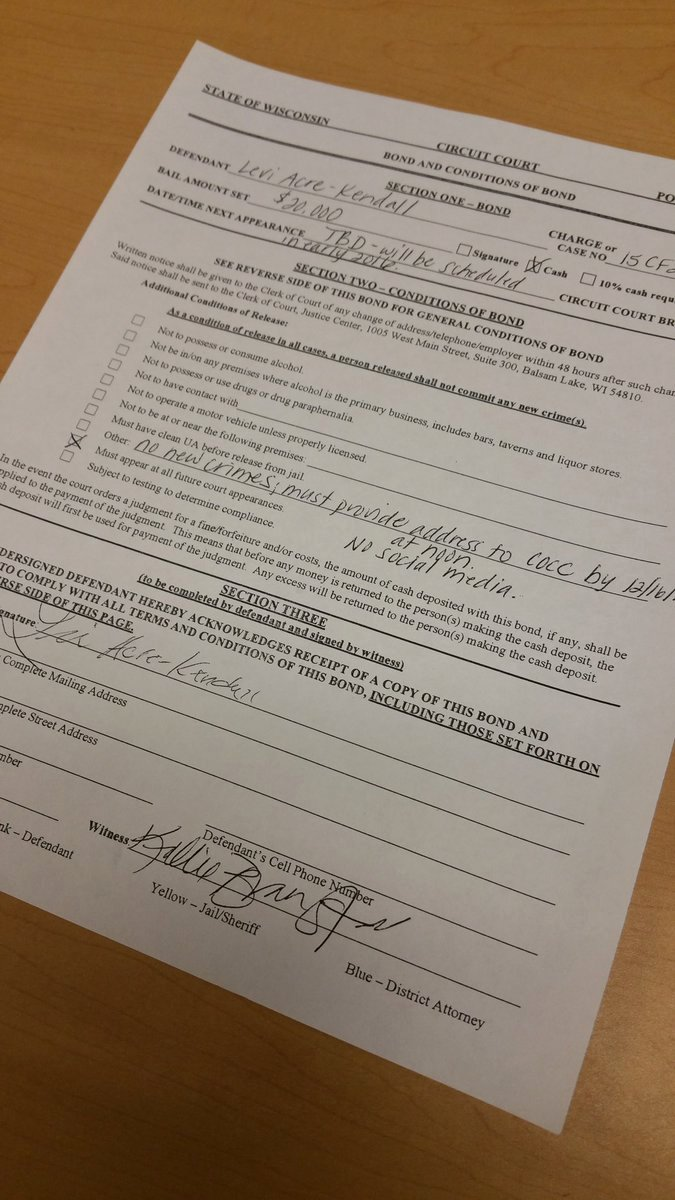 Social Media Release form New 1 More Piece Of Paperwork before Leaving Polk Co Levi Jail Release form He S Out but Note No