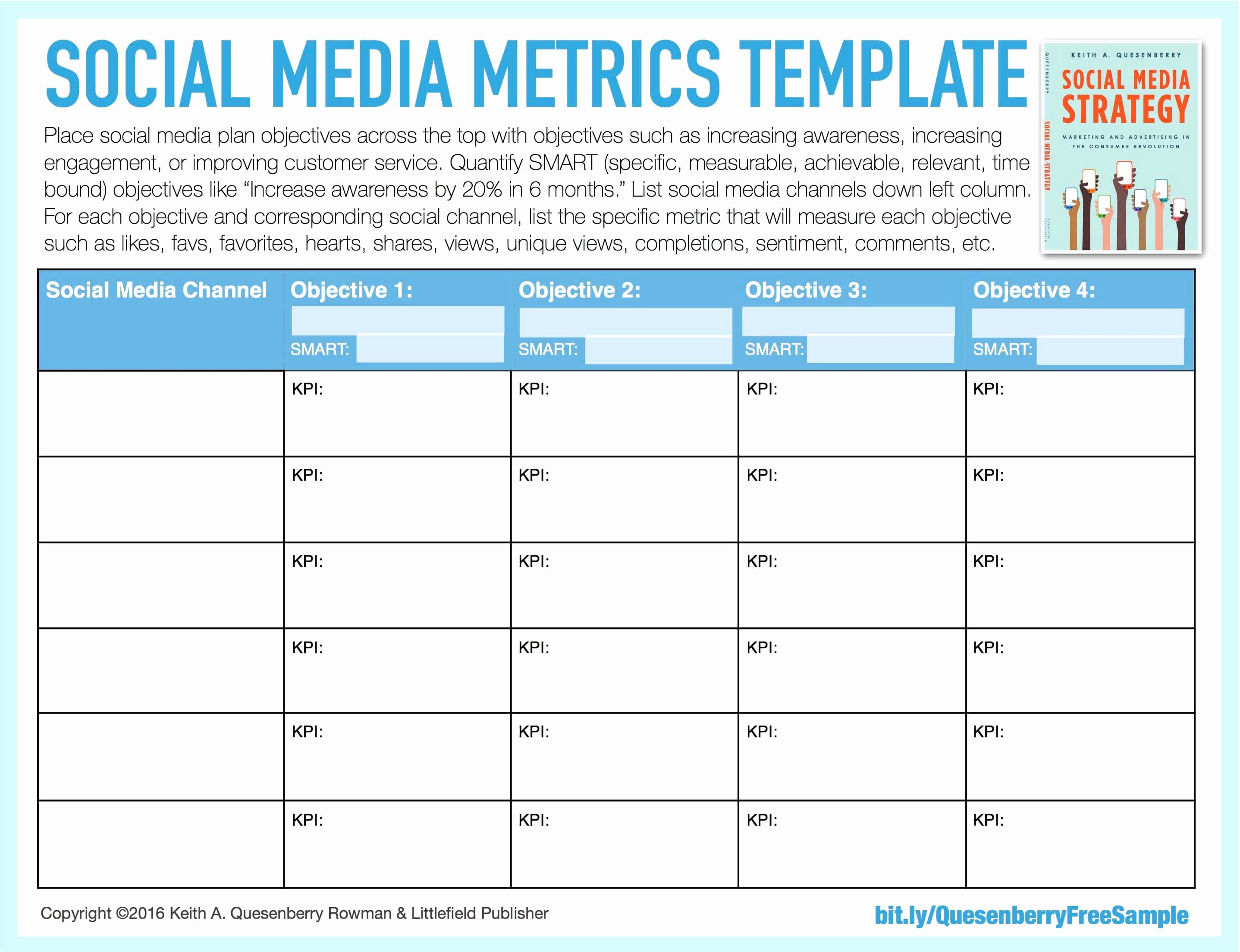 Social Media Strategy Template Pdf Elegant social Media Templates Keith A Quesenberry