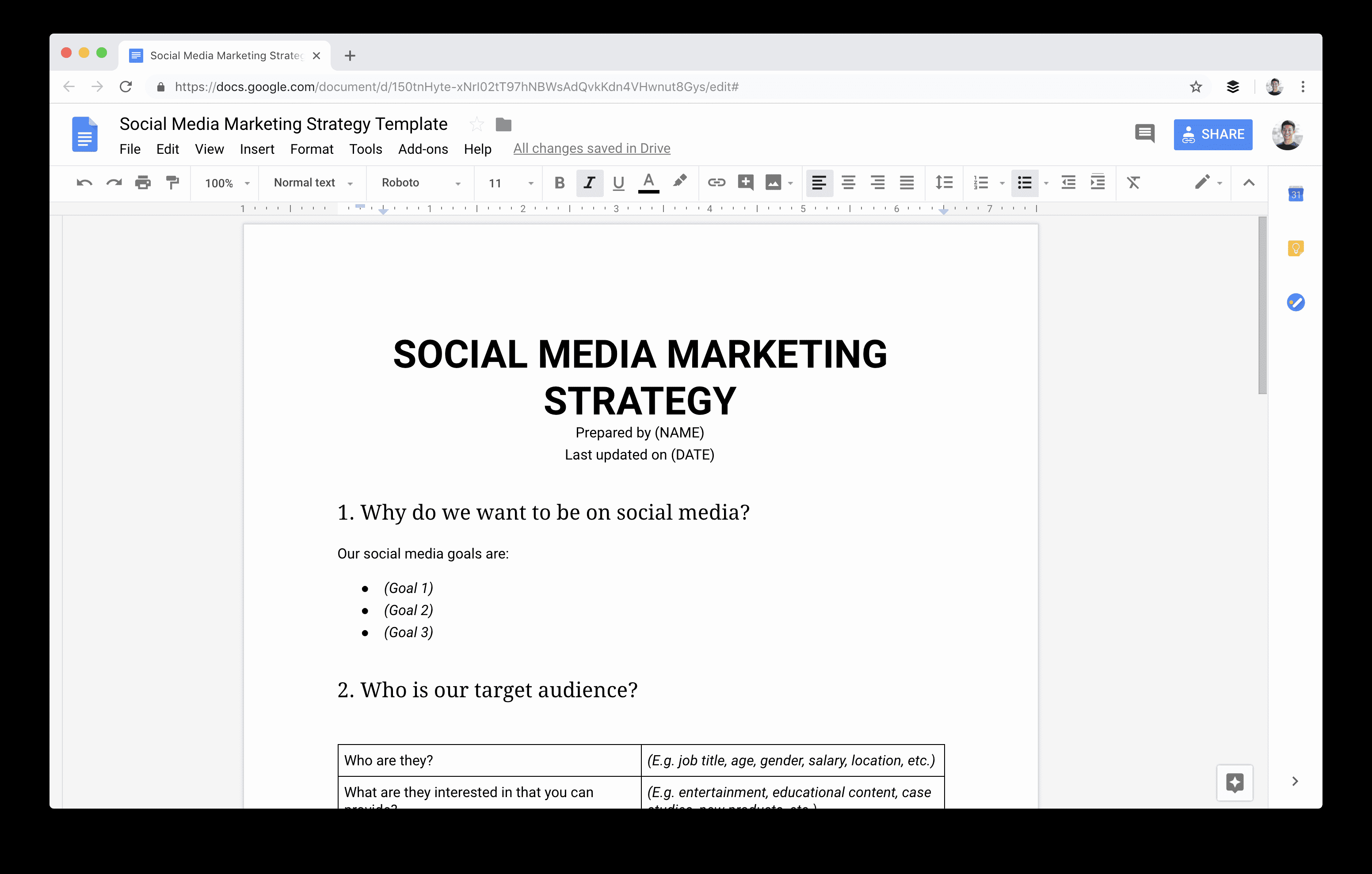 Social Media Strategy Template Pdf Fresh social Media Marketing Strategy the Plete Guide for Marketers