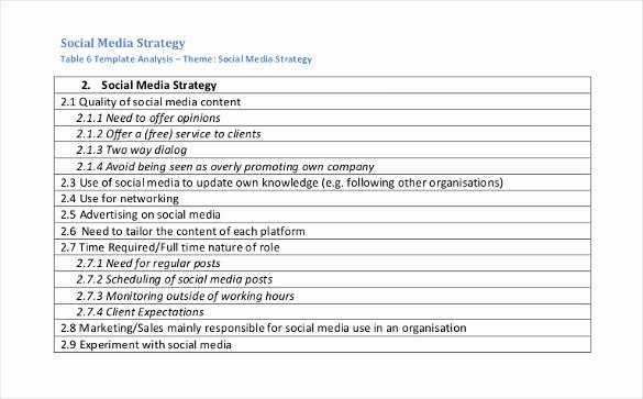 Social Media Strategy Template Pdf Fresh social Media Strategy Template 14 Free Word Pdf Documents Download