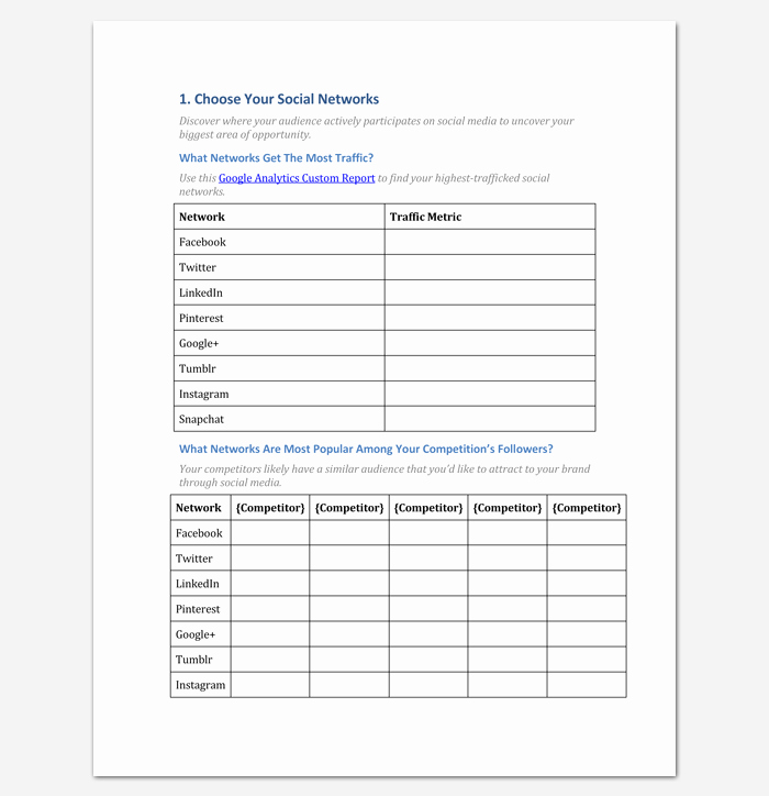 Social Media Strategy Template Pdf New social Media Strategy Outline Template 7 Samples for Pdf & Word