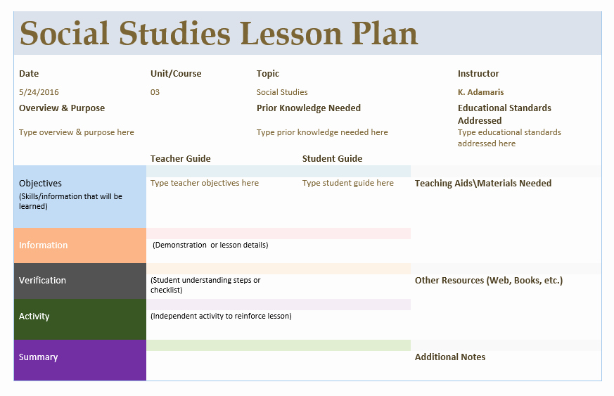 Social Studies Lesson Plan Templates Awesome social Stu S Lesson Plan Template – Word Templates for Free Download
