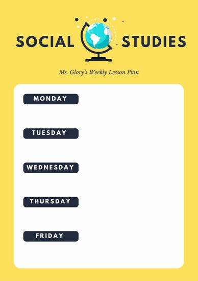 Social Studies Lesson Plan Templates Best Of Customize 1 310 Lesson Plan Templates Online Page 2 Canva