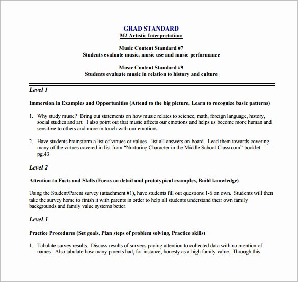 Social Studies Lesson Plan Templates New Music Lesson Plan Template 8 Free Pdf Word format Download