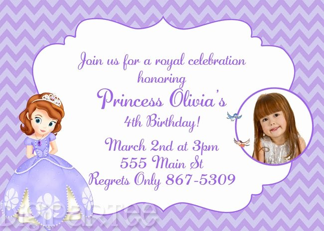 Sofia the First Invitation Templates Awesome sofia the First Invitation