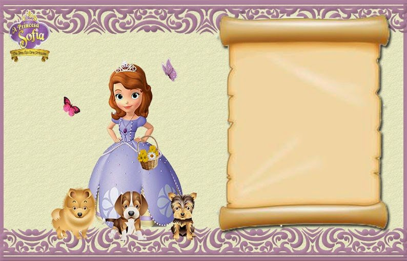 Sofia the First Invitation Templates Beautiful sofia the First Free Printable Invitations or Frames