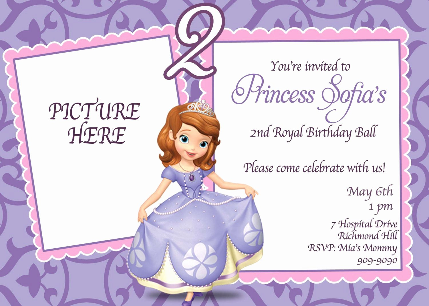 Sofia the First Invitation Templates Beautiful sofia the First Invitations Templates