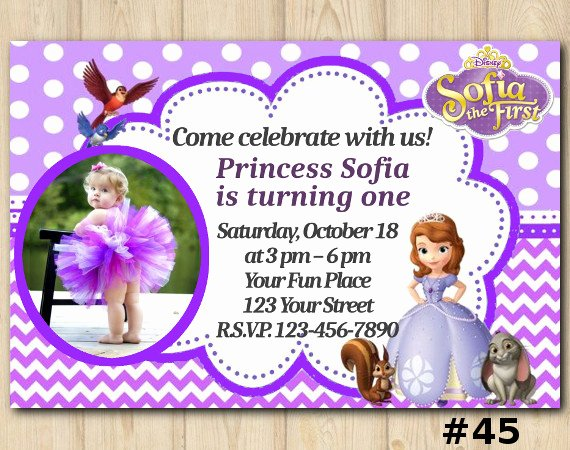 Sofia the First Invitation Templates Best Of Disney sofia the First Birthday Invitation sofia the First Invitation Template