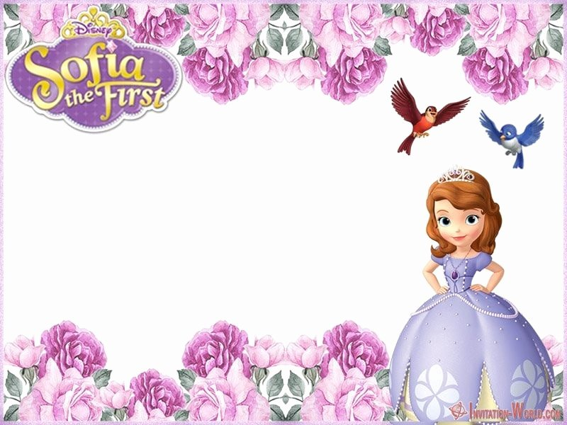 Sofia the First Invitation Templates Best Of sofia the First Free Line Invitation Templates