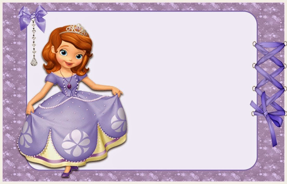 Sofia the First Template Awesome sofia the First Free Printable Invitations or Frames
