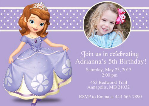 Sofia the First Template Awesome sofia the First Invitations Templates