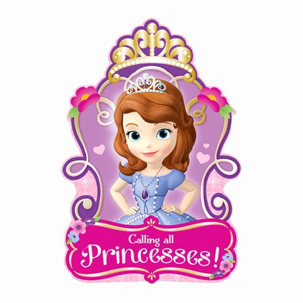 Sofia the First Template Best Of 8 sofia the First Princess Birthday Party Invitations Invite Plus Envelopes