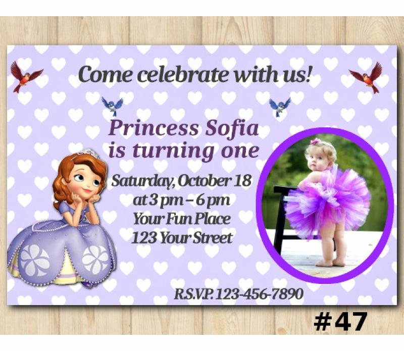 Sofia the First Template Best Of sofia the First Birthday Invitation sofia the First Invitation Template
