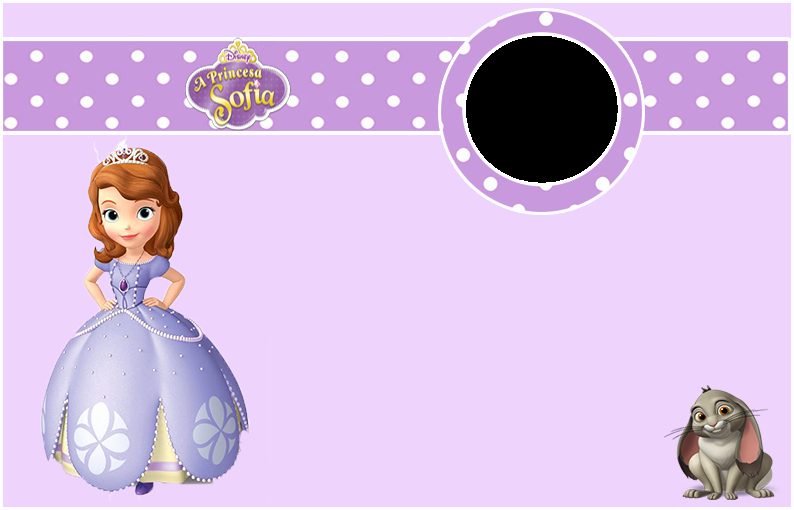 Sofia the First Template Fresh sofia the First Free Printable Invitations Cards or Frames Oh My Fiesta In English