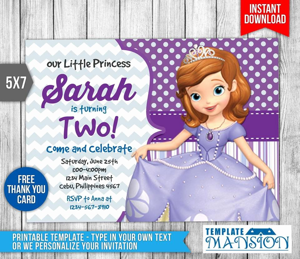 Sofia the First Template Fresh sofia the First Invitation Invite Template Psd by Templatemansion On Deviantart