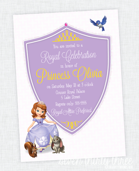 Sofia the First Template Inspirational sofia the First Birthday Party Invites Inspiration Made Simple