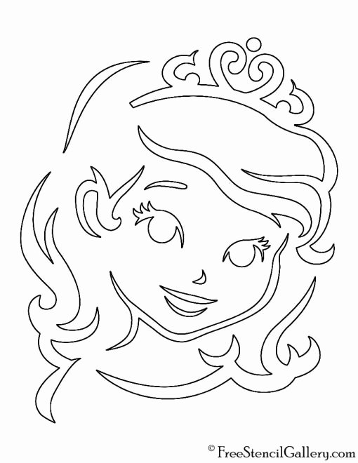 Sofia the First Template Inspirational sofia the First Stencil