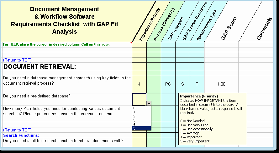 Software Gap Analysis Template Fresh software Gap Analysis Template