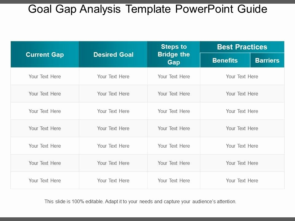 Software Gap Analysis Template Inspirational Goal Gap Analysis Template Powerpoint Guide Presentation Powerpoint Diagrams