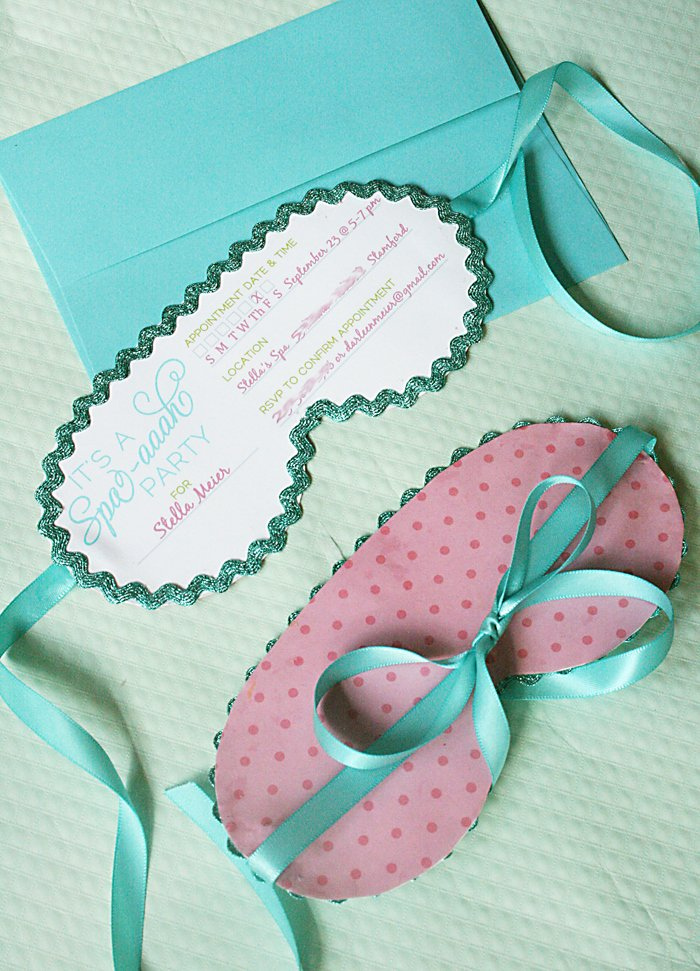 Spa Birthday Party Invitations Awesome Kids Spa On Pinterest