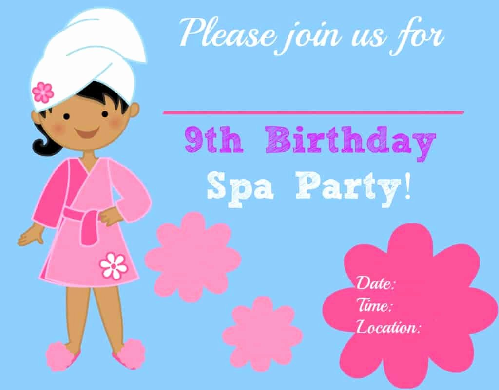 Spa Birthday Party Invitations Beautiful Great 9 Year Old Girl S Birthday Party Idea A Spa Party Mom 6