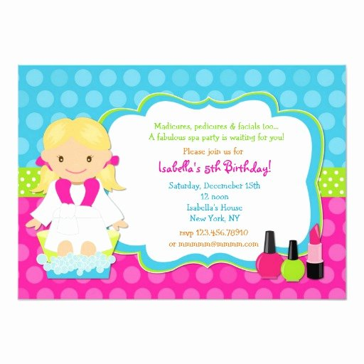 Spa Birthday Party Invitations Beautiful Spa Birthday Party Invitations