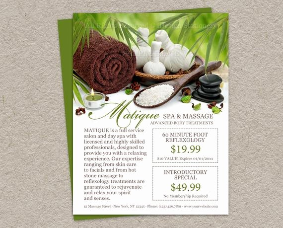 Spa Menu Template Free Inspirational Items Similar to Salon and Spa Menu Services Template Diy Printable Salon Flyer with