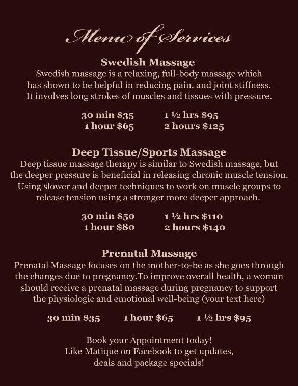 Spa Menu Template Free Luxury Spa Menu Templates – 27 Free Psd Eps Documents Download