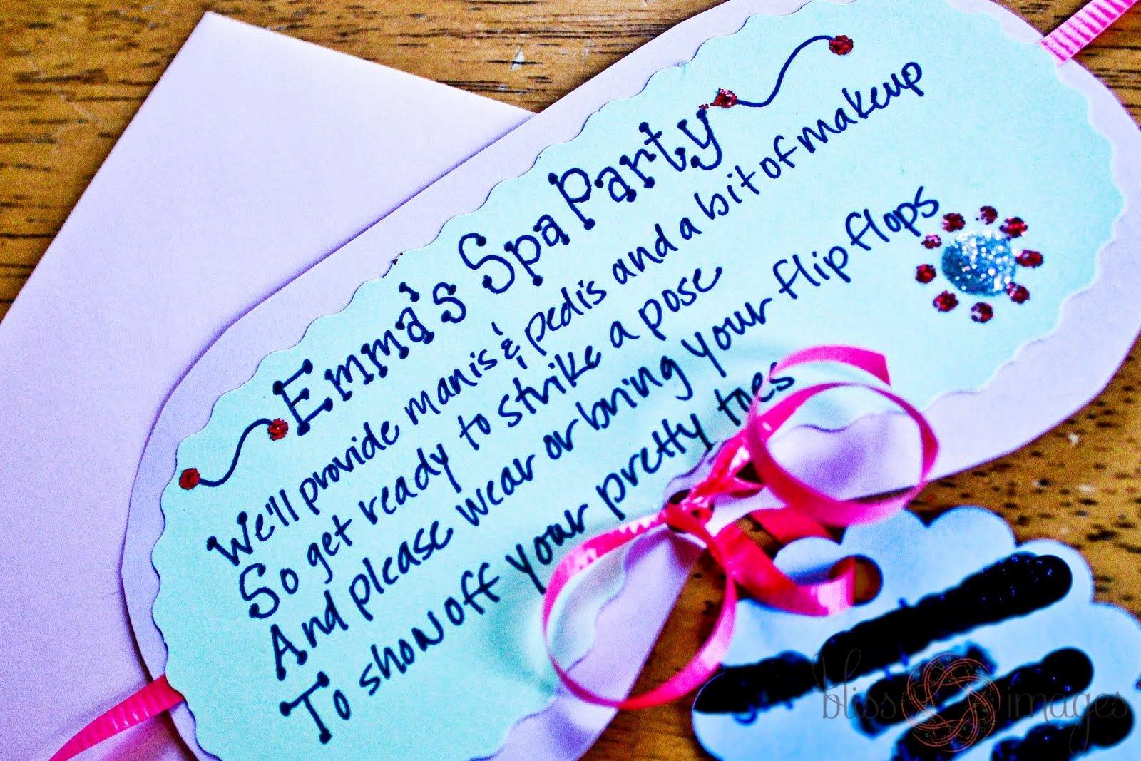 Spa Party Invitations Templates Free Beautiful Free Spa Party Invitation Template