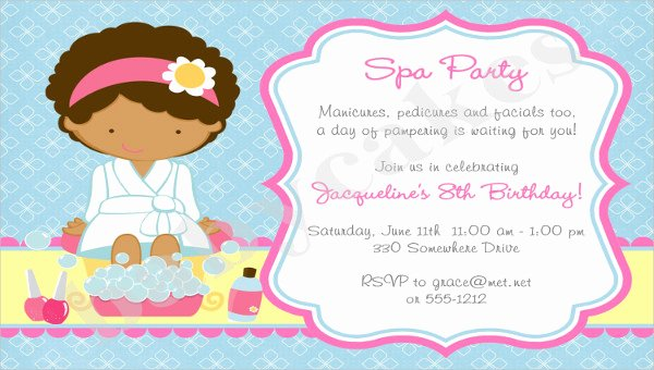 Spa Party Invitations Templates Free Best Of 10 Spa Party Invitation Designs & Templates Psd Ai