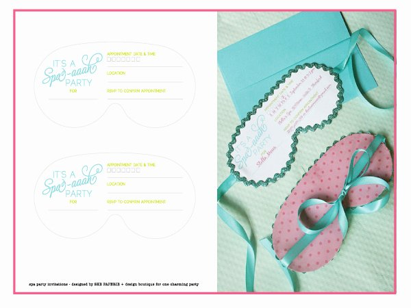 Spa Party Invitations Templates Free Best Of Spa Party Invitation