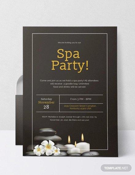 Spa Party Invitations Templates Free Elegant 12 Spa Party Invitations Psd Ai Word