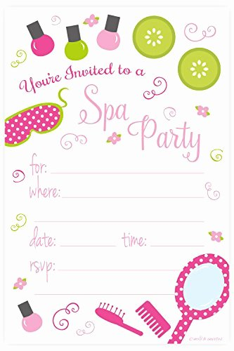 Spa Party Invitations Templates Free Elegant Kids Spa Party Supplies Amazon