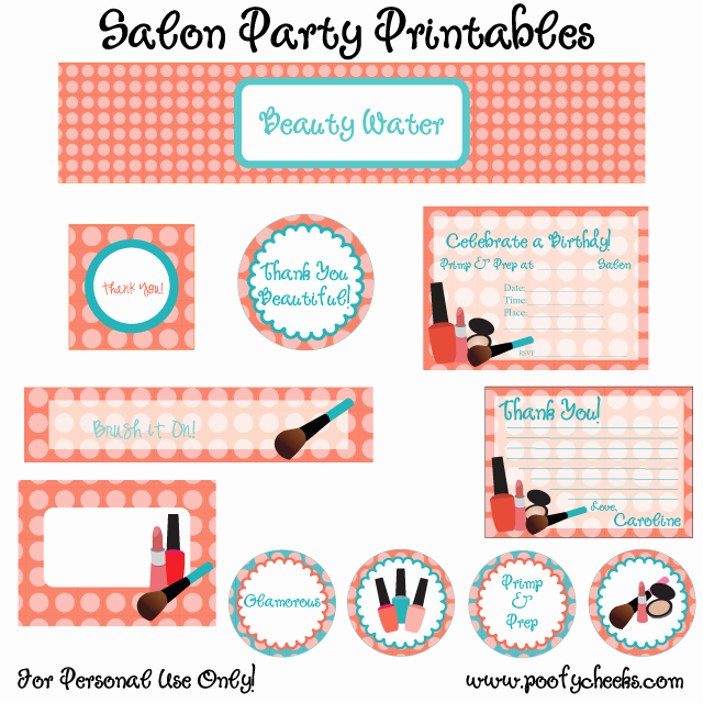 Spa Party Invitations Templates Free Elegant Spa Party Invitation Printable Templates