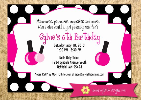 Spa Party Invitations Templates Free Inspirational Printable Spa Party Invitation Diy Invite Spa Manicure Pedicure Girl Birthday Shower Party