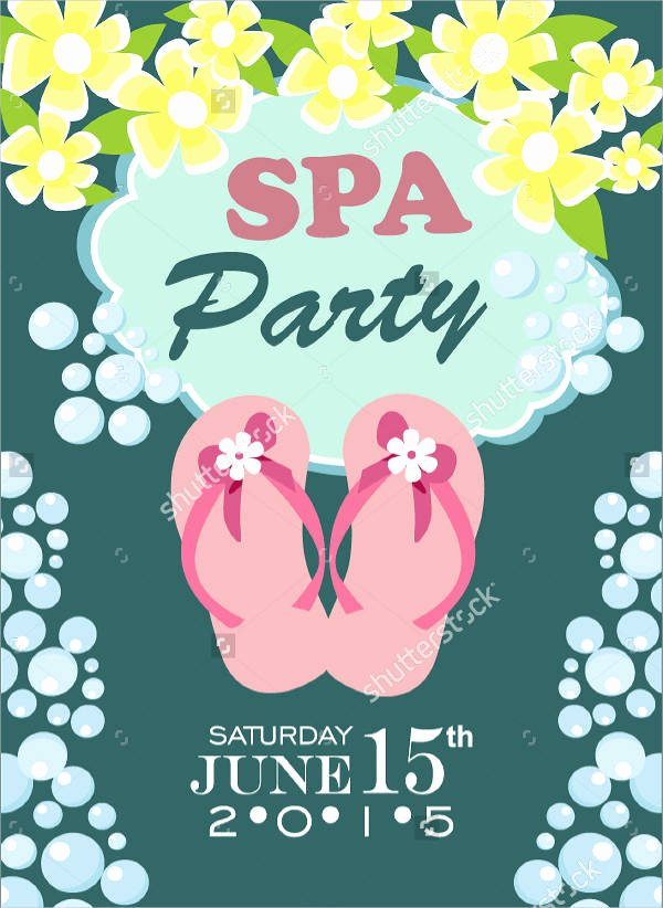 Spa Party Invitations Templates Free Lovely 10 Spa Party Invitation Designs & Templates Psd Ai