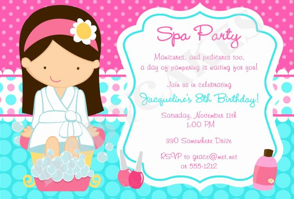 Spa Party Invitations Templates Free Luxury 12 Spa Party Invitations Psd Ai Word