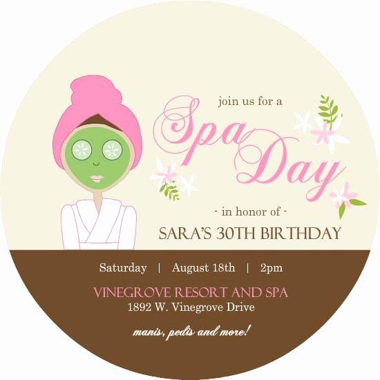 Spa Party Invitations Templates Free New Spa Party Invitation