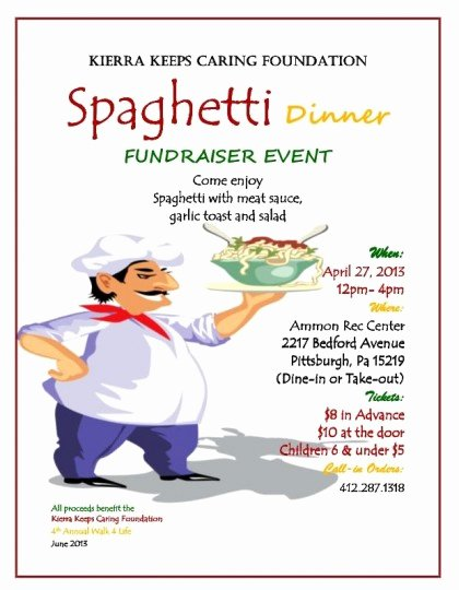 Spaghetti Dinner Fundraiser Flyer Template Awesome 29 Of Spaghetti Dinner Fundraiser Ticket Template