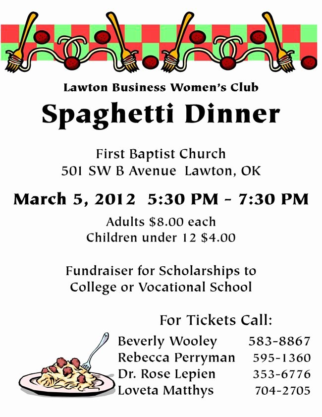 Spaghetti Dinner Fundraiser Flyer Template Inspirational Spaghetti Flyer Cub Scouts