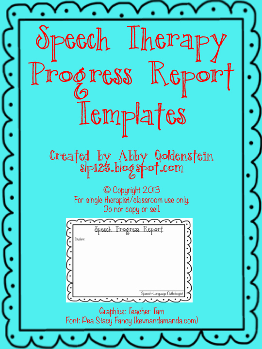 Speech therapy Progress Notes Template Unique Schoolhouse Talk Free Speech therapy Progress Report Template