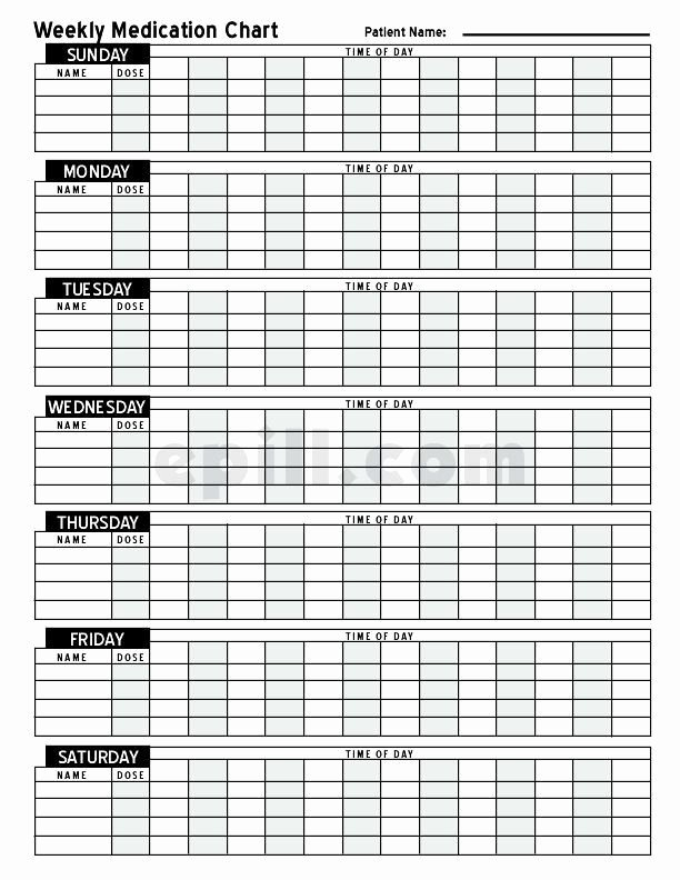 Speech therapy Schedule Template Best Of Free Medication Schedule E Pill Medication Chart Geriatric Ot Treatment Ideas