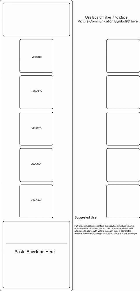 Speech therapy Schedule Template Best Of Visual Sched Templates Autism Pinterest