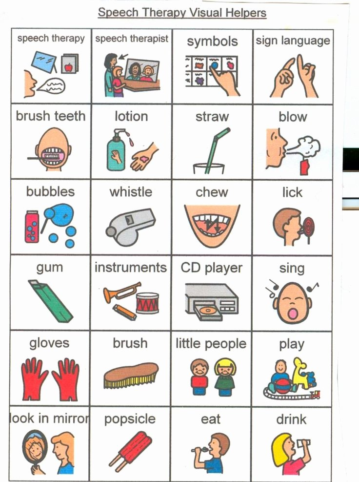 Speech therapy Schedule Template Elegant Speech therapy Picture Cards and Activity Ideas Visuals Helpers